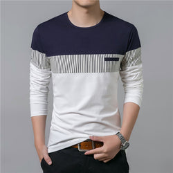 Summer Long Sleeve O-Neck T-Shirt Men Brand Clothing