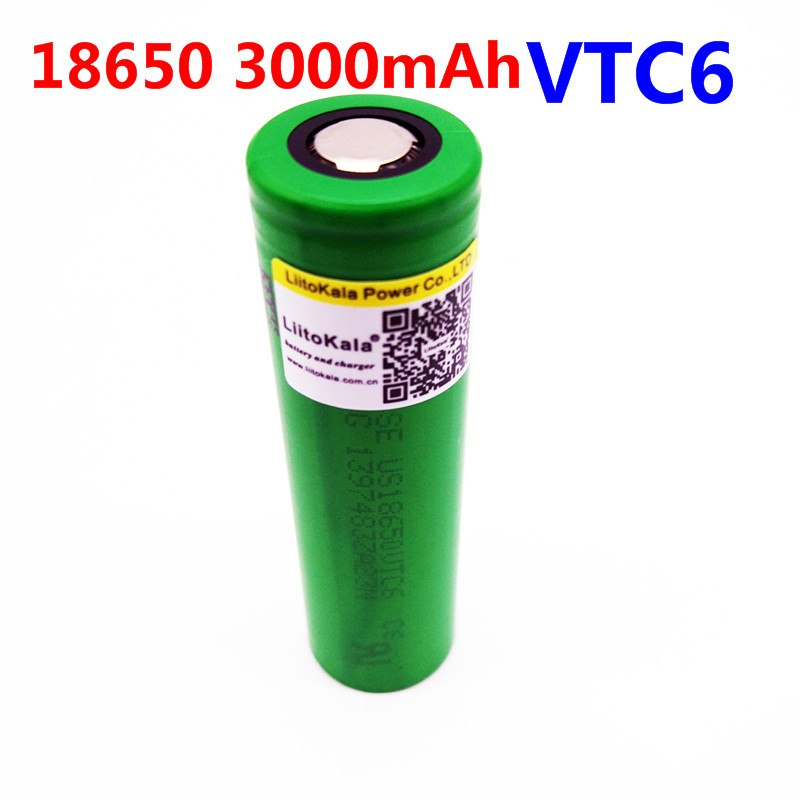 VTC6 3.7V 3000mAh rechargeable Li-ion battery 18650 for Sony US18650VTC6 30A