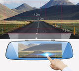 "E06 4G Car DVR 7.84"" Touch ADAS Remote Monitor Rear view mirror with DVR and camera"