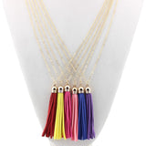 Tassel Natural Stone Necklace