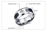 Engraved Tree Of Life Stainless Steel Rings