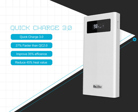 20000 mAh For Xiaomi Mi 2 Quick Charge 3.0 PowerBank Portable Charger