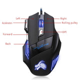 Professional Wired Gaming Mouse 5500 DPI 7 Buttons