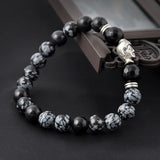 Natural Tibet Silver Buddha Lucky Men Bracelet