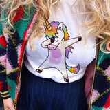 Summer Harajuku Unicorn Print women's fashion tops
