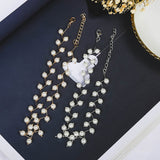 Elegance Statement Simulated Pearl Beads Choker Necklace