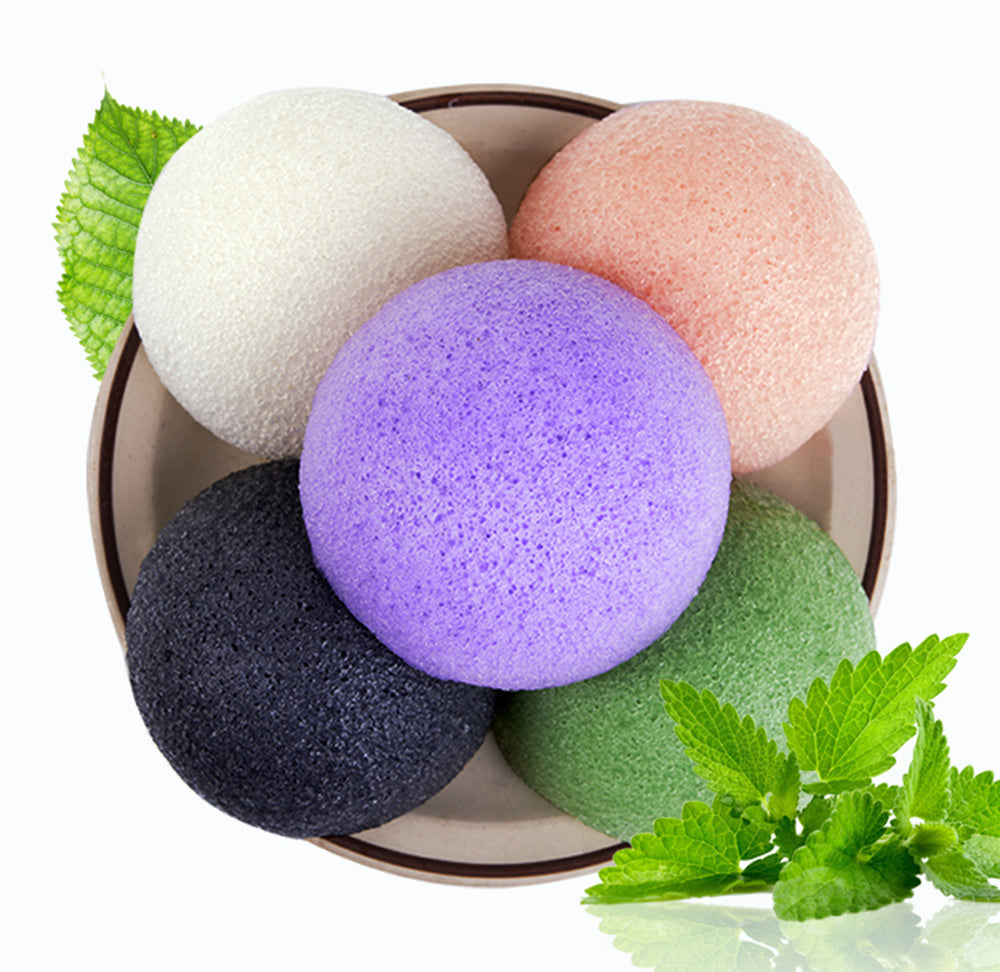 Natural Sponge Facial Puff Face Wash Cleansing & Exfoliating Beauty Sponges