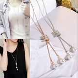 Long Chain Sweater Necklace