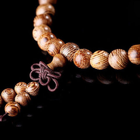Image of Natural Sandalwood Buddhist Beads Bracelet