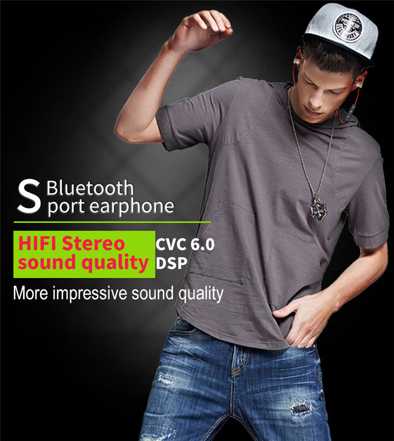 Wireless Bluetooth Earphone For Phone Neckband With Microphone