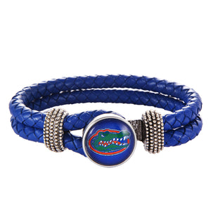 Florida Gators Leather Bracelet