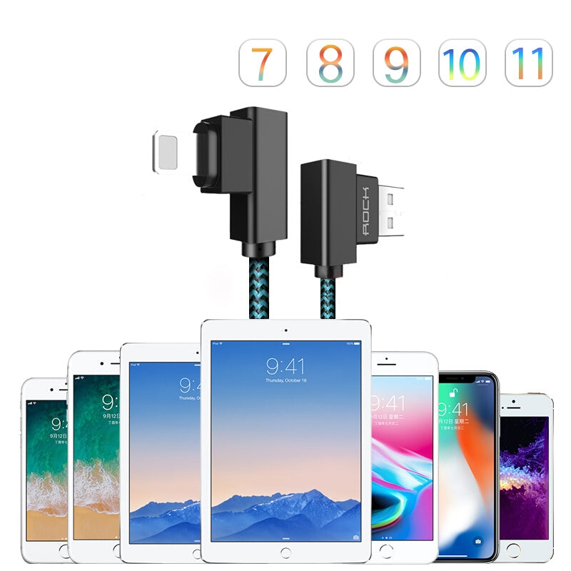 USB Charging Cable For iPhone X 8 7 6 5 Plus Data Sync Cord 1M 2M