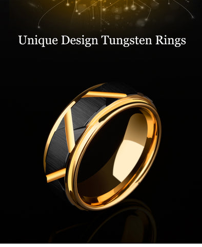 Image of 8mm Width Tungsten Carbide Wedding Ring