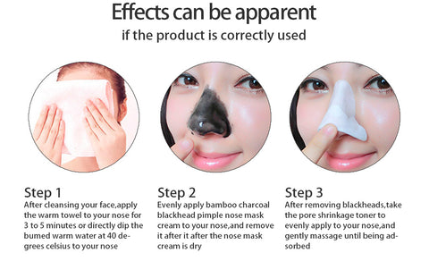Image of Nose Blackhead Remover Face Black Mask Acne Treatment Peeling Mask Suction Facial Skin Care
