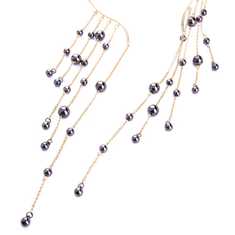 Image of Torques Long Tassel Choker Necklace