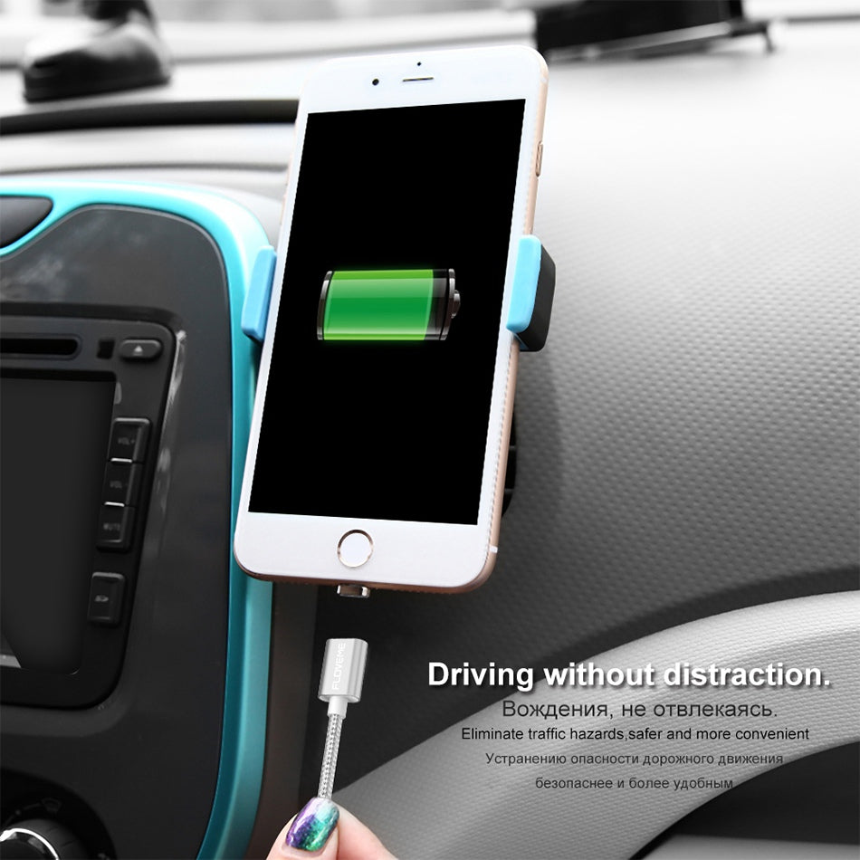 2 Connectors Magnetic Cable For iPhone 6 7 8 Plus 5s Micro USB Cable