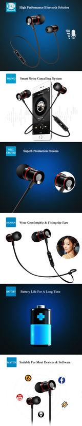 V4.2 Wireless Sport Earbuds for iPhone & Xiaomi
