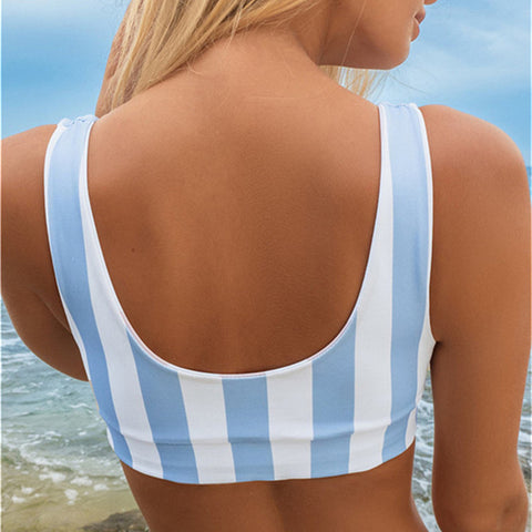 Image of Scoop Neck Backless Swimwear