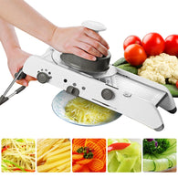 Manual Professional Vegetable Grater With Adjustable 304 Stainless Steel Blades