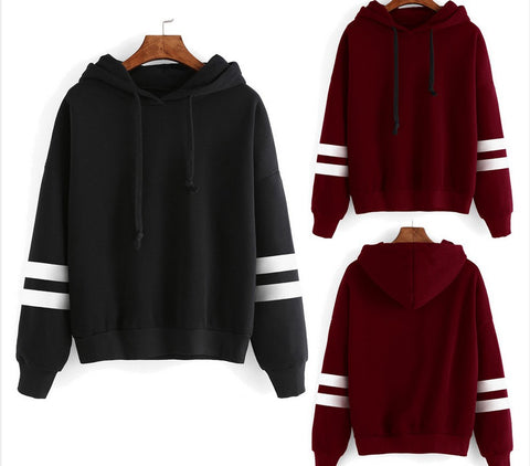 Image of Hoodie Casual Long Sleeve Hooded Pullover Sweatshirts