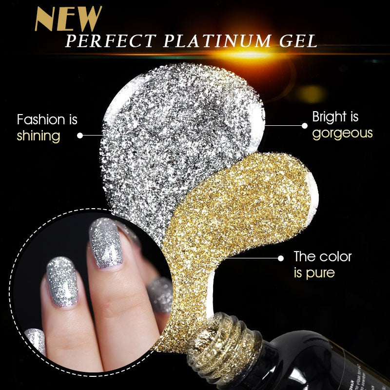 12ml 12 Color Supper Diamond Shining Glitter Sequin Starry Platinum Paint Gel