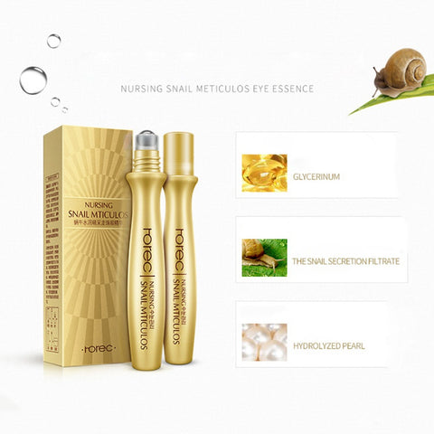 Snails Cream Eye Serum Moisturizing Eye Anti-puffiness Anti-Aging Dark Circle Removal