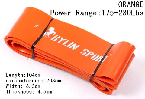 Image of Nature Pure Latex Resistance Bands 6 Size Fitness Power Training