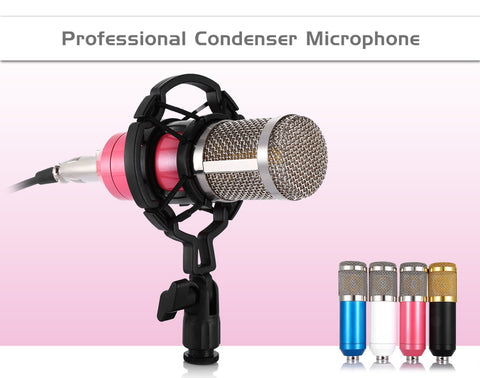 BM 800 Computer Microphone 3.5mm Wired Condenser Sound Microphone