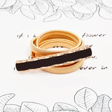 Gold Flower Shape Elastic Belts For Women