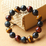 Elegant Trendy Natural Stone Tiger Eye Collar Buddha Bracelets