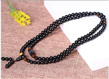 Natural Obsidian Beads 6MM 108 Tiger Eye Stone Lover's Bracelet