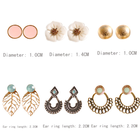 Image of Girls Birthday Party Pearl Earrings Set Mashup 6 Pairs