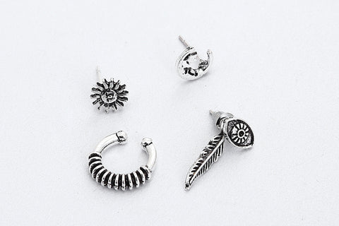 Image of Bohemia Punk Style Ancient Palm Hope Earrings