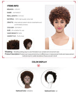 Brazilian Afro Kinky Curly Remy Hair Wigs Short Human Hair Wigs For Black Women