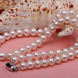 Natural White Freshwater Cultured Pearl Necklace