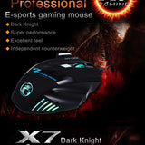 Pro Gamers Mouse x7 Button 5500 DPI LED Optical USB