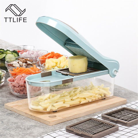 Image of MultiFunction Manual Vegetable Slicer