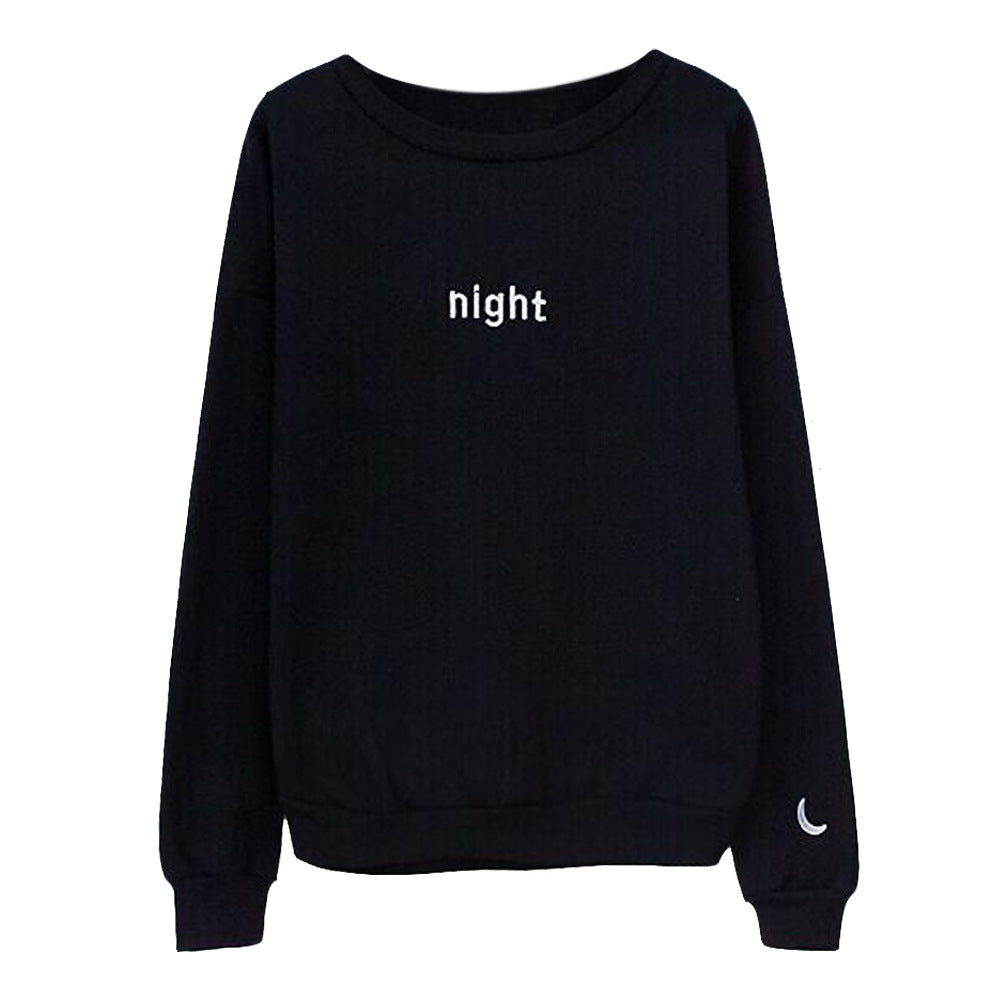 Harajuku Letters Day & Night Long Sleeve Hoodies