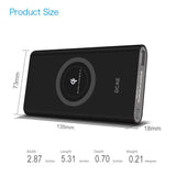 Qi Wireless Charger 10000mAh Power Bank For iPhone X 8 Plus Samsung Note 8 S9 S8 Plus S7