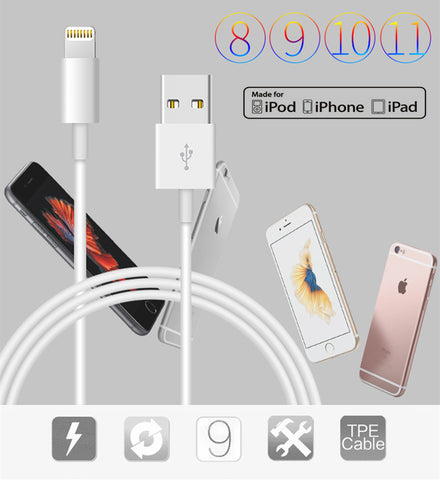 Image of Original USB Charging Cable For iPhone 5 5S 6S 7 8 Plus X SE Fast Charger USB Data Sync Cable