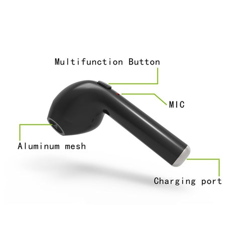 In-Ear Wireless Bluetooth Invisible Music Earbud With Mic For Apple iPhone Samsung Xiaomi Huawei