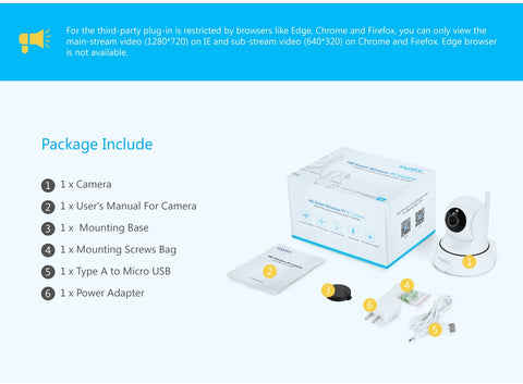 Image of Home Security IP Surveillance Camera