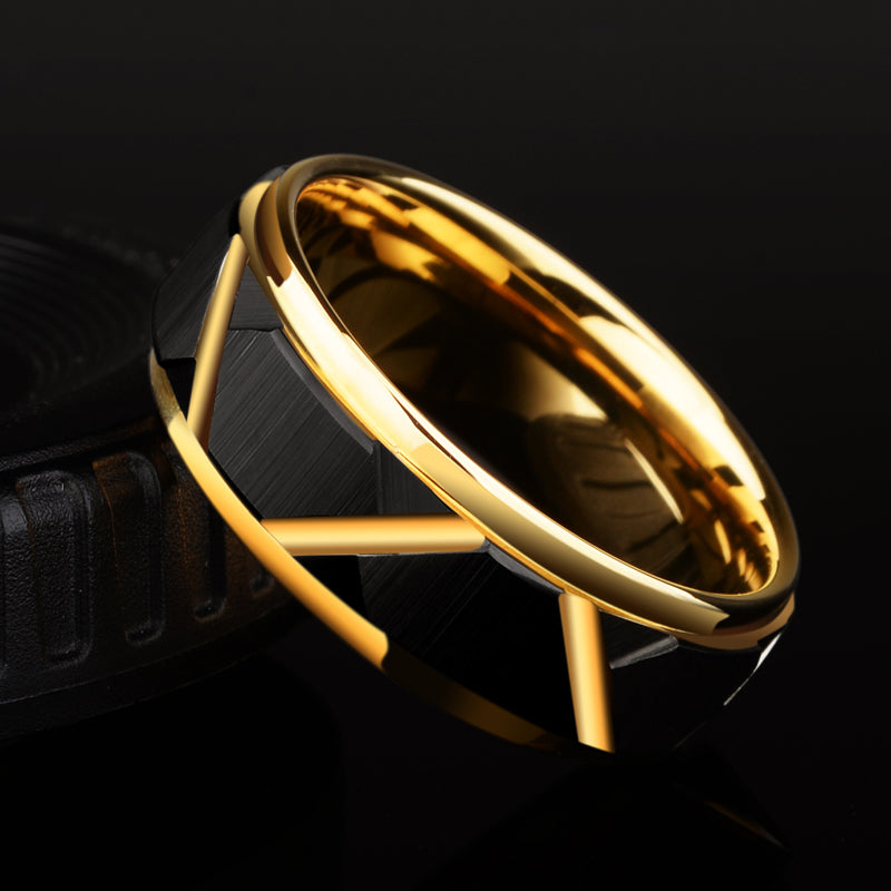 8mm Width Tungsten Carbide Wedding Ring