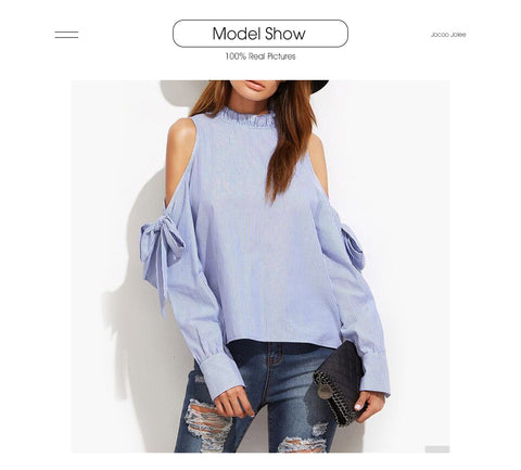 Sexy Off Shoulder Bow Blouse