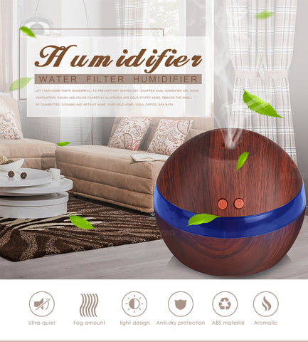 Image of USB Ultrasonic Humidifier 290ml Aroma Diffuser