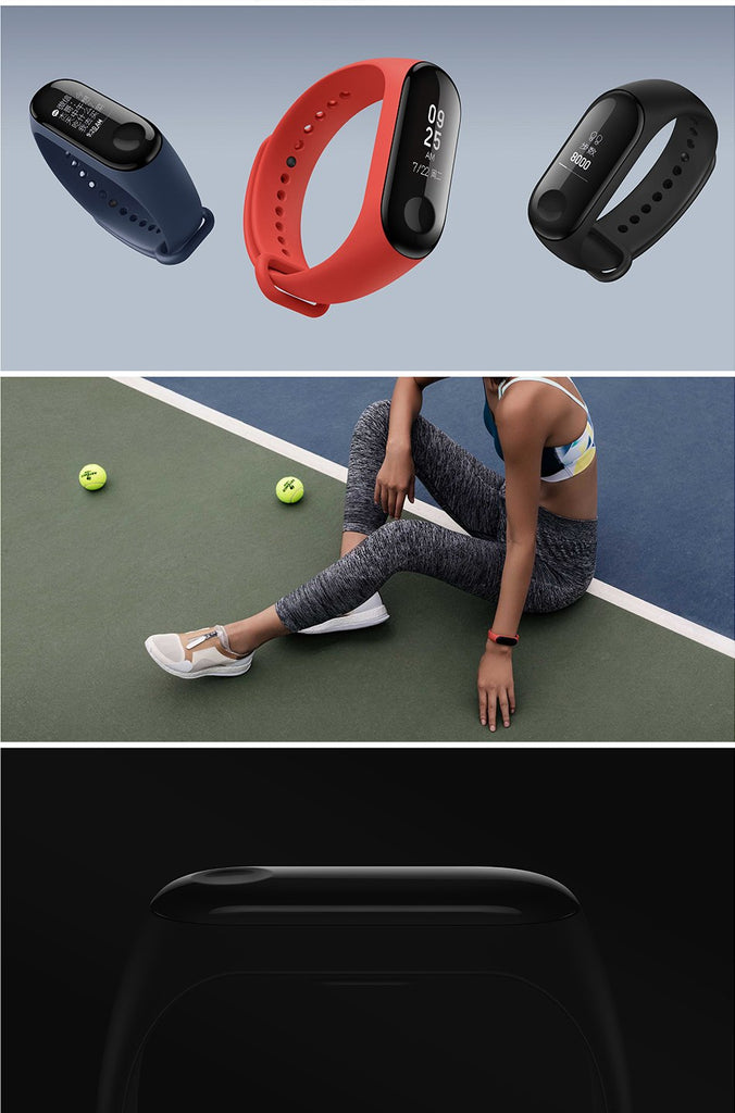 Original Xiaomi Mi Band 3 Smart Bracelet Black 0.78 inch OLED miband