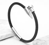 Fish Skin Stainless Steel 316L Titanium Nail Cuff Riverdale Bangle