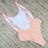 Women Fused Backless Swimwear