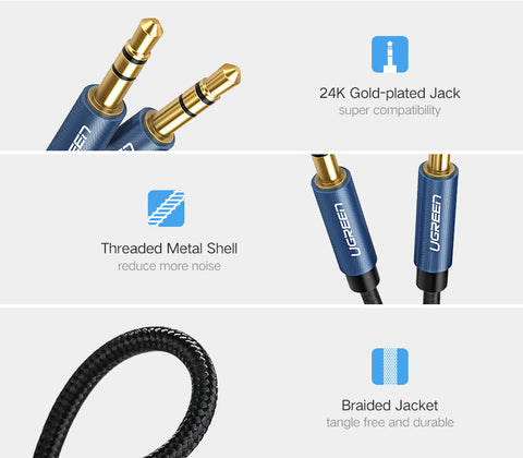 Jack 3.5 Audio Cable 3.5mm Speaker Line Aux Cable for iPhone 6