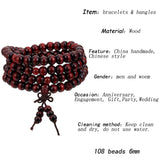 Natural Sandalwood Buddhist Buddha Prayer Bracelets